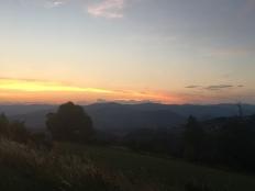 Le soleil se couche à Tracol
