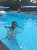 Lily et l'aquabike