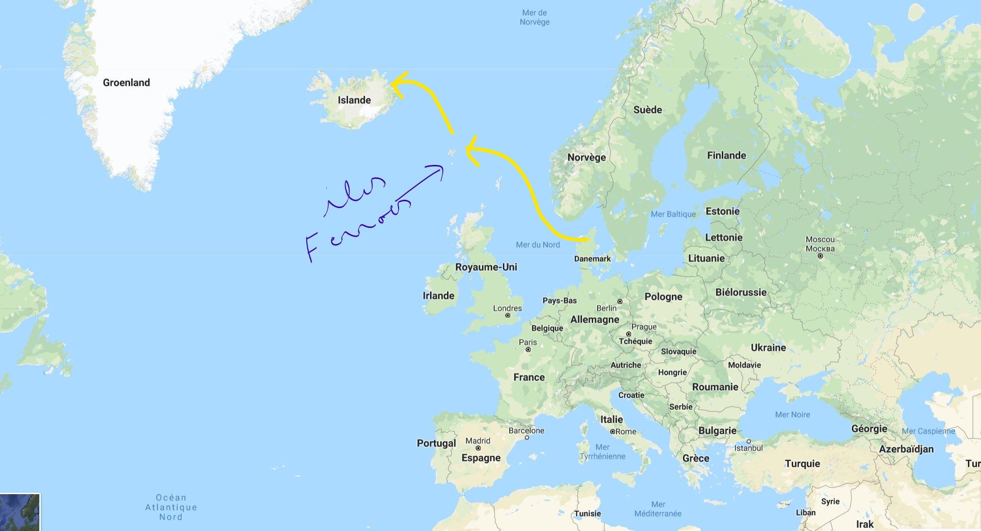 Trajet Ferry Norrona Danemark - Islande_
